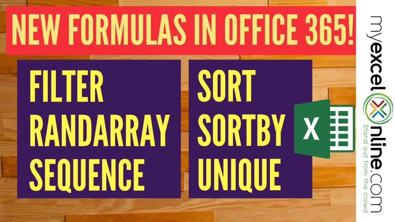 New Excel Formulas in Office 20   MyExcelOnline