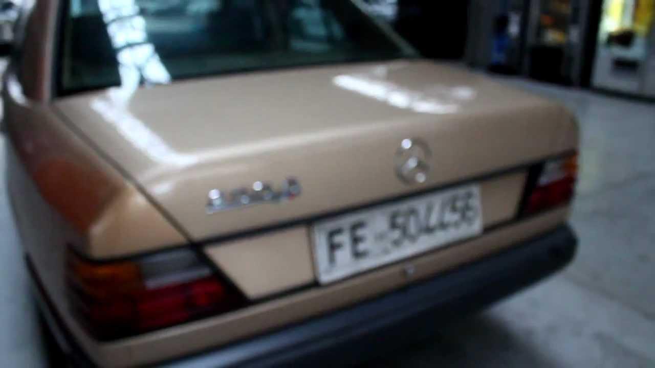 1988 mercedes benz 250d w124 exterior detailing (manual