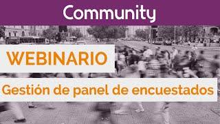 Gestión de panel de encuestados con Sphinx Community