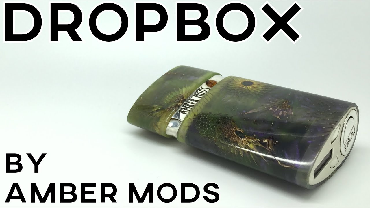 DROPBOX BY AMBER MODS REVIEW - high end custom box mod