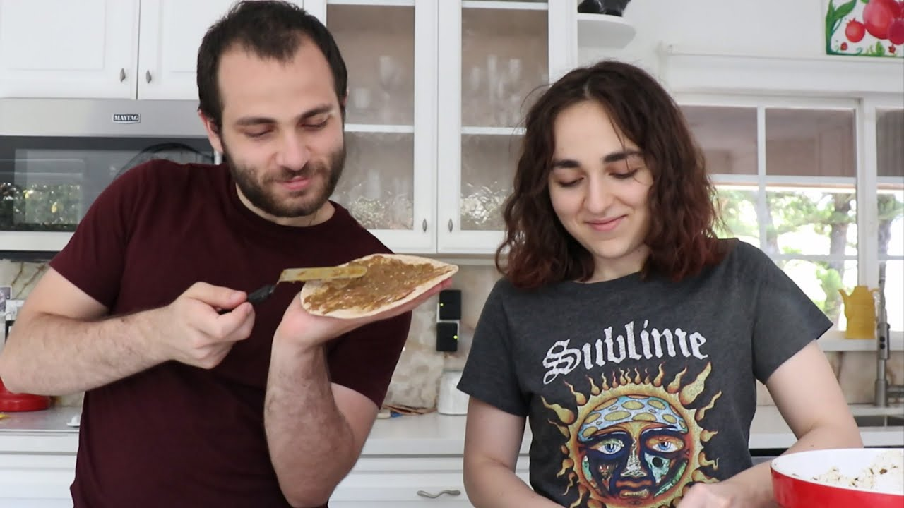 Arnak and Lilyth Make Msalosh - Lahmajun - Heghineh Cooking Show