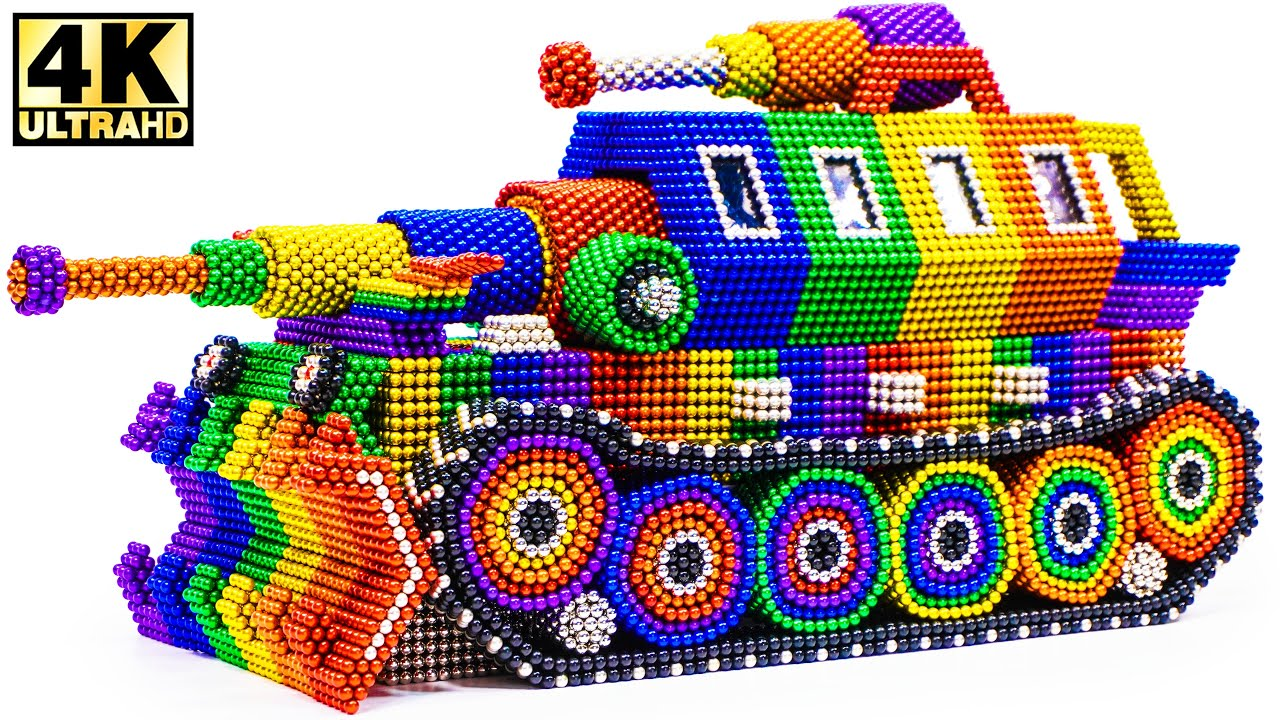 DIY - How To Make Main Battle Tank with Magnetic Balls (Satisfying ASMR)   Military Vehicle Magnet