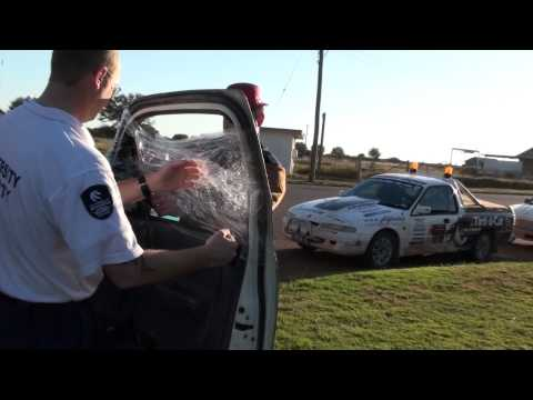 Rally How To Fix A Broken Car Window With Glad Wrap