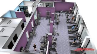 Anytime Fitness Unley 3D layout