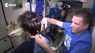 Samantha's haircut at Terry's space salon