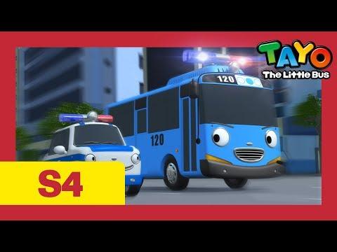 Tayo Español la Serie 4 l #18 Tayo se convierte en un oficial de policía l Tayo el pequeño Autobús
