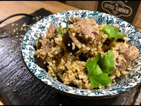 bol-de-quinoa,-aubergines-et-aiguillettes-de-canard
