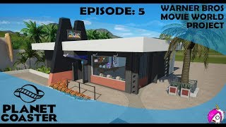 Planet Coaster | Warner Bros Movie World | Ep. 5 - Superheroes Shop