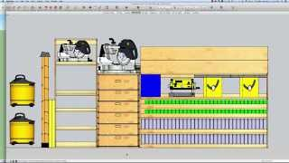 Building A Mobile Woodshop (part 15) How To Get The Sketchup 3d Model For Free!