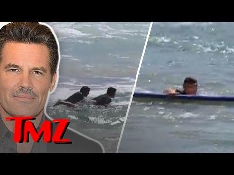 Josh Brolin Rescues A Surfer From A Ferocious Current!  TMZ