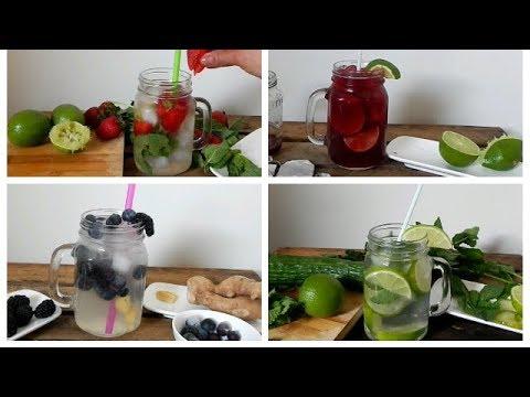 Cómo preparar agua saborizada Fácil y deliciosas