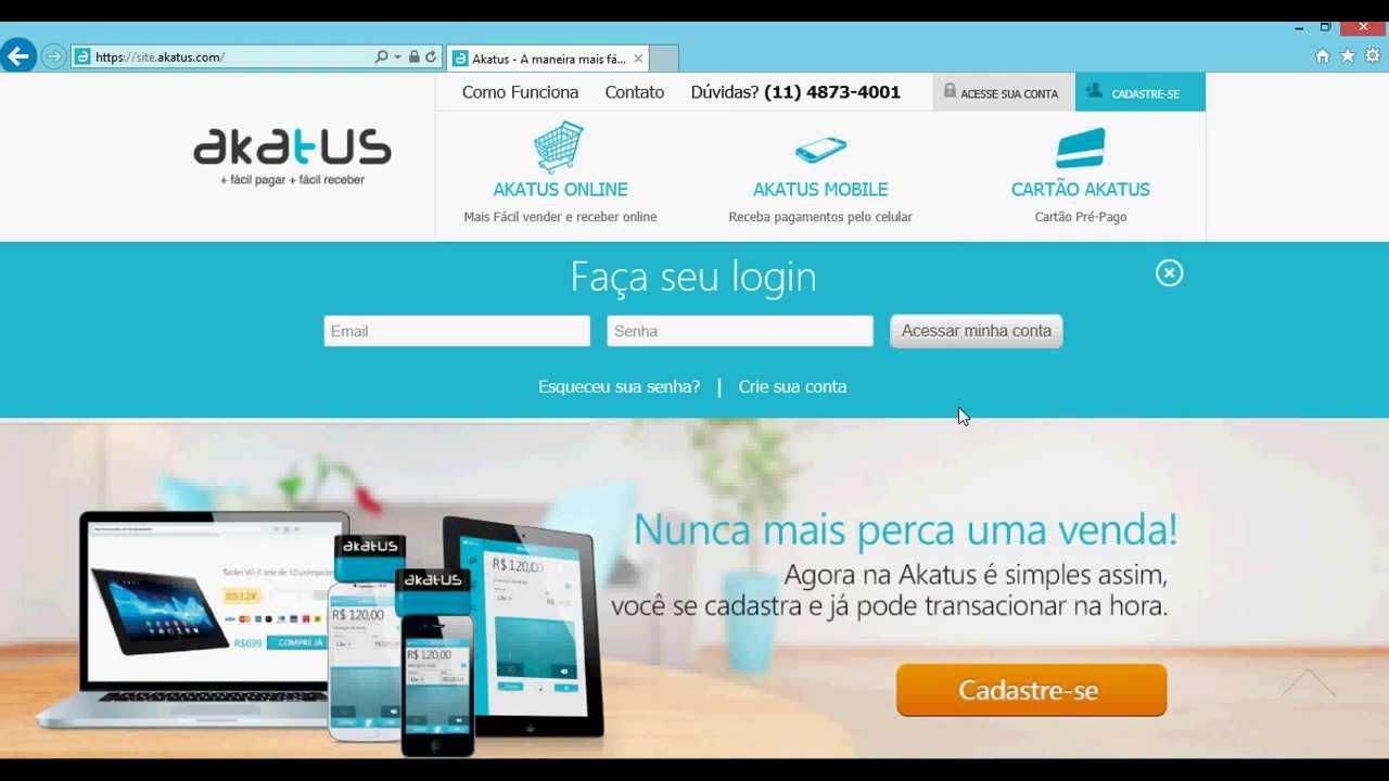 Akatus pagamentos online dating