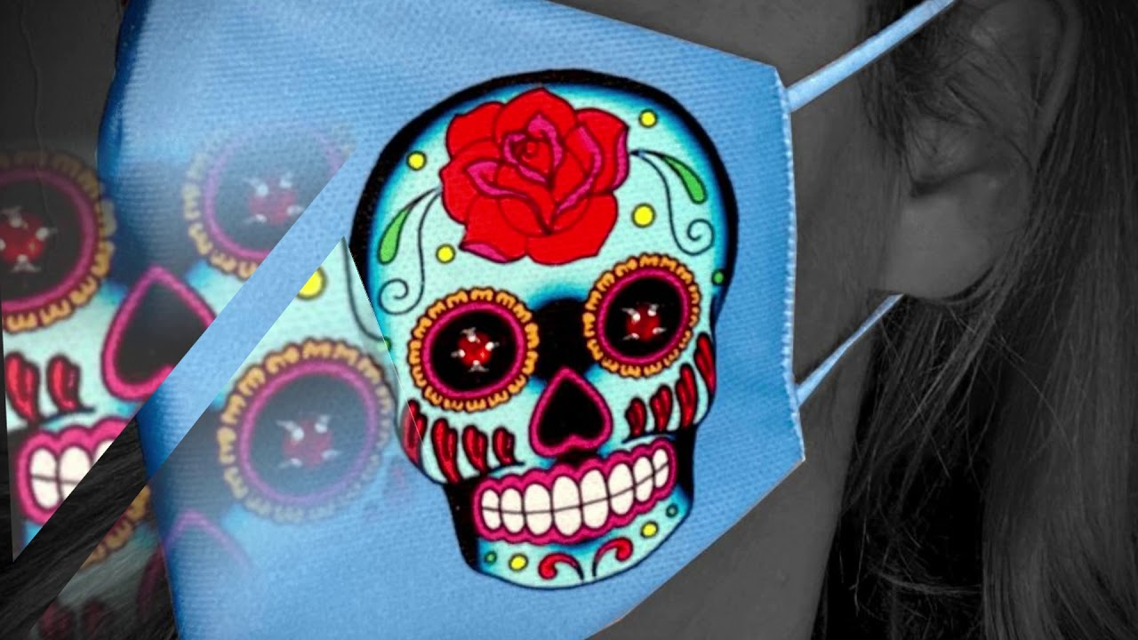 "Mallorca Brands / Textile Concepts - ""Skull"" hygiene masks WITH RHINESTONE"
