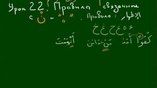 УРОКИ ТАДЖВИДА. Урок 22. Изхар