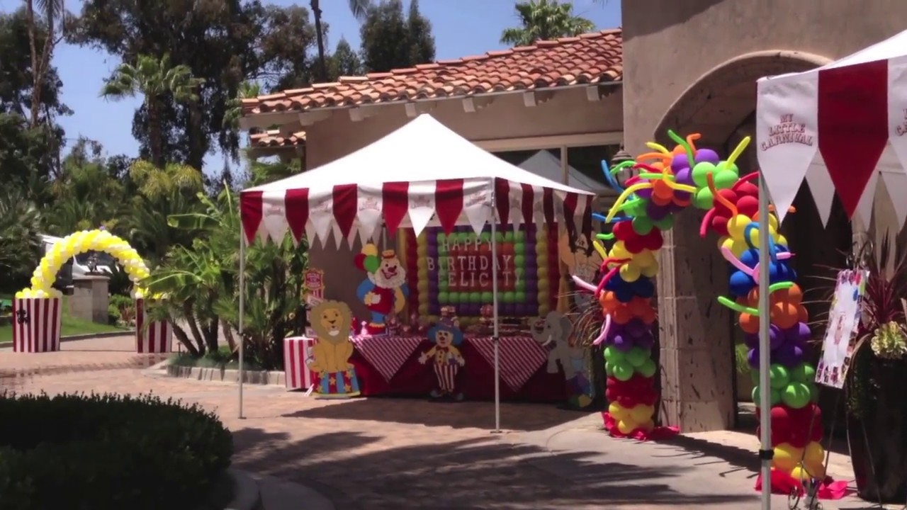 Carnival Birthday Party San Diego