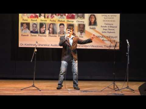 Haan Pehli baar... performed on Karaoke Track at Kashinath Ghanekar Auditorium Thane...Ramesh Singh