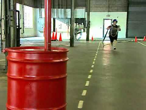 Agility Test Pushes New Firefighter Candidates