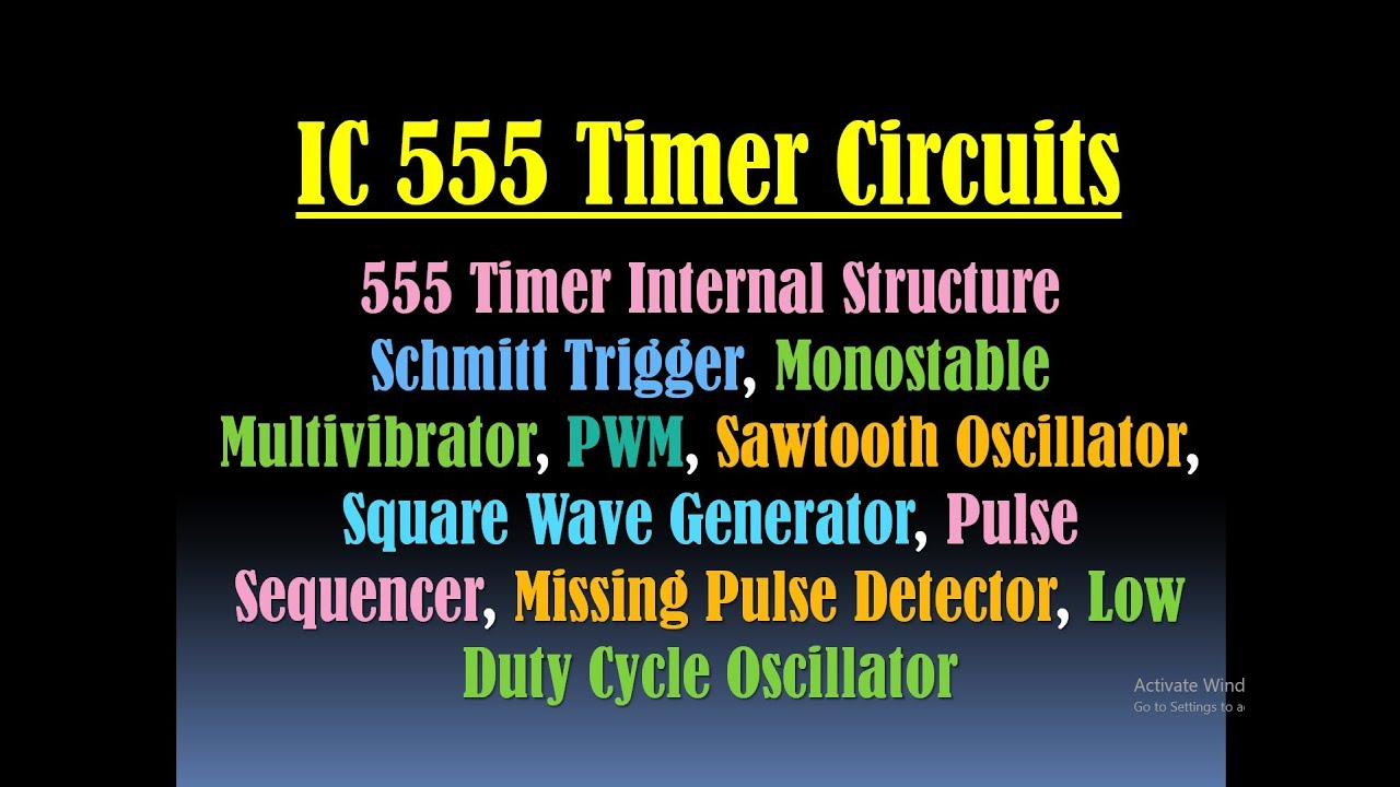 555 Timer Circuits Applications Ic Online Screenshot Of Circuit In Falstad Simulator