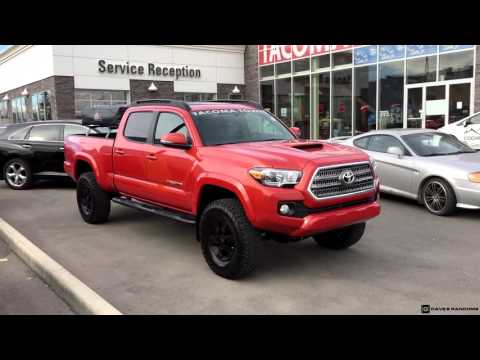 Lifted 2016 Toyota Tacoma Double Cab Trd Sport 4x4 Youtube