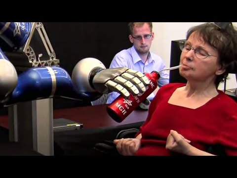 Paralyzed Woman Controls Robotic Arm With Thoughts – Dara O Briain's Science Club – BBC