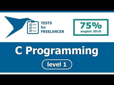 Freelancer - C Programming - level 1 - test (75%)