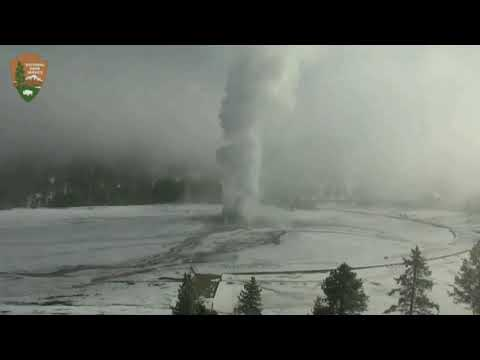 Yellowstone - Geysers Seem Low On Water, Steamy Old Faithful!   30 Oct 19