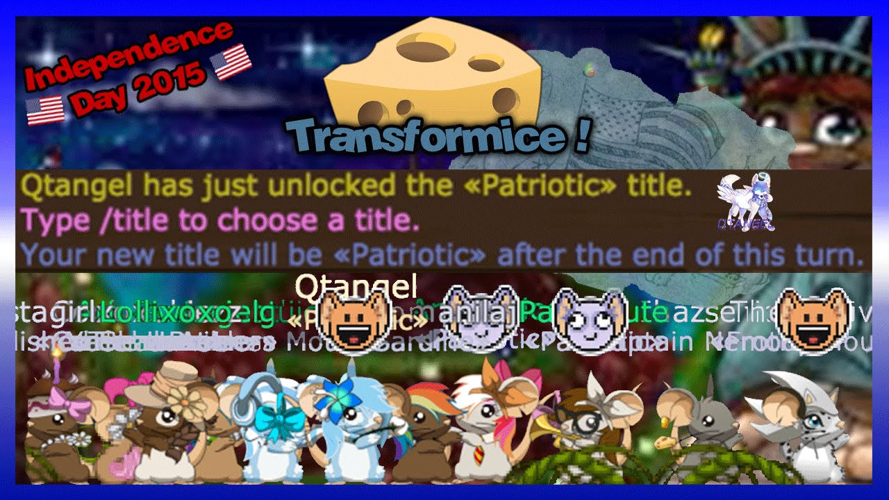 Transformice Halloween 2020 Titles How to get Patriotic Title on Transformice!   YouTube