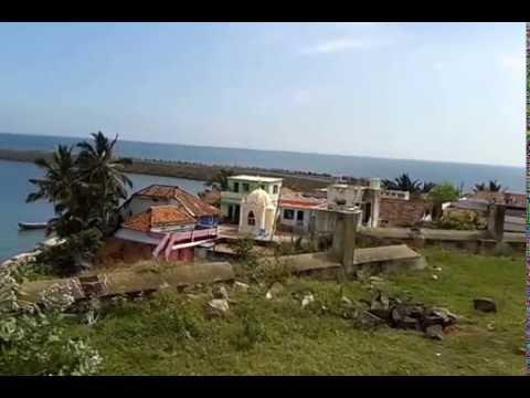 Beautiful muttom seashore and church