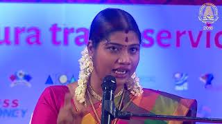 Tamilnadu Tourism Award-2018-Mrs Desa Mangayarkarasi-Best Speech..