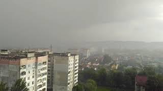Гроза у Львові 28 липня 2018 р.