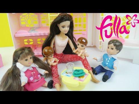 لعبة البيت ألعاب بنات غرفة أخوات فلة و حمام حقيقي! Fulla Kids room Playset toy