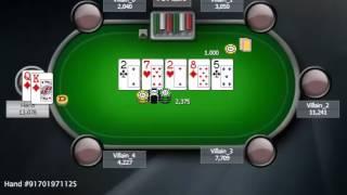 Раздача дня PokerStarter Нестандартный пот контроль с KQs