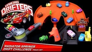 :) Micro Drifters Radiator Springs Drift Challenge Track Playset Cars 2 Disney Drifting Racing