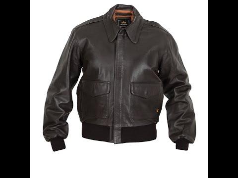 Лётная кожаная куртка  A-2 Leather Jacket Brown Alpha Industries