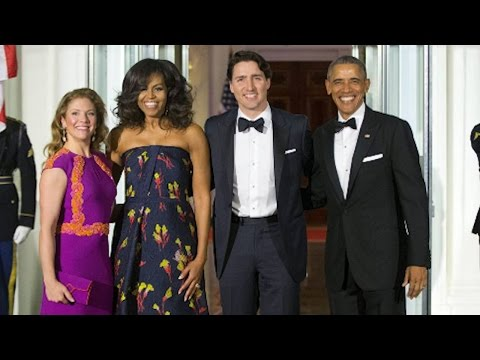 Stars come out for dinner in honour of Justin Trudeau