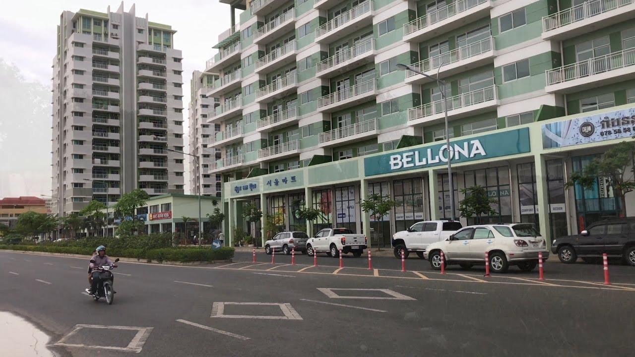 4k New Development Camko City Condos In Phnom Penh Cambodia Under Construction 2017 Long Film Youtube