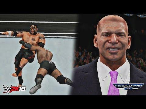 WWE 2K18: Bobby Lashley defeats Umaga (Donald Trump vs Vince McMahon - Hair vs Hair Match) - WM 23