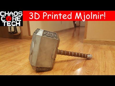 Life Size 3D Printed Thors Hammer (Mjolnir)