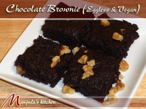 Chocolate Brownie (Eggless & Vegan) Recipe...