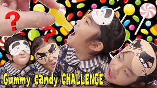 めかくしで挑戦!グミキャンディ味あてゲーム!