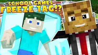 SCHOOL GAMES FREEZE TAG SHOPPING MALL MINECRAFT MODDED HIDE AND SEEK!?