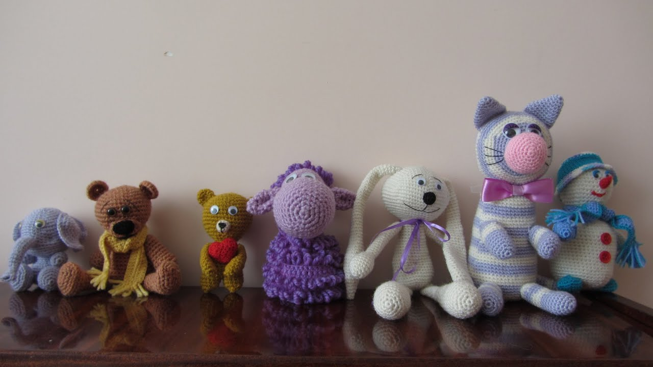 Knitted toys elephant rabbit cat youtube bankloansurffo Images