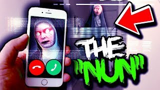 if The Nun calls you, it's much too late.. (scary)