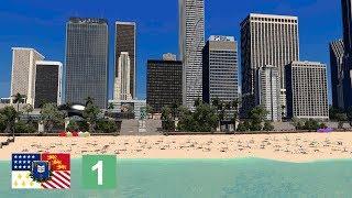 Cities: Skylines - Beach and Esplanade above highway [Belvedere, Ep. 1]
