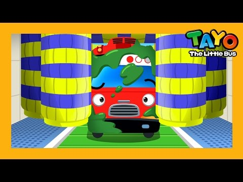 Car Washing l Habit Game #3 l Learn Street Vehicles l Tayo the Little Bus