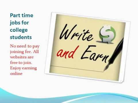 Free Online Part Time Jobs For College Students - YouTube