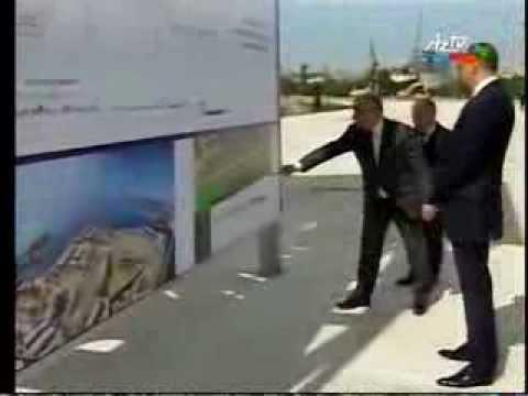 President Ilham Aliyev lays foundation stone for Baku White City Boulevard