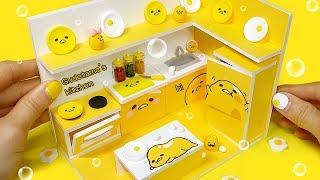 [DIY Miniature gudetama#2 kitchen] 게으른 주방에 어서와~ 구데타마 한가득!!!! 노랑노랑 구데타마 주방을 만들어 봅시다