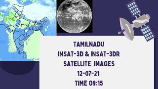 tamilnadu weather satellite image 12-07-21 time 09.15