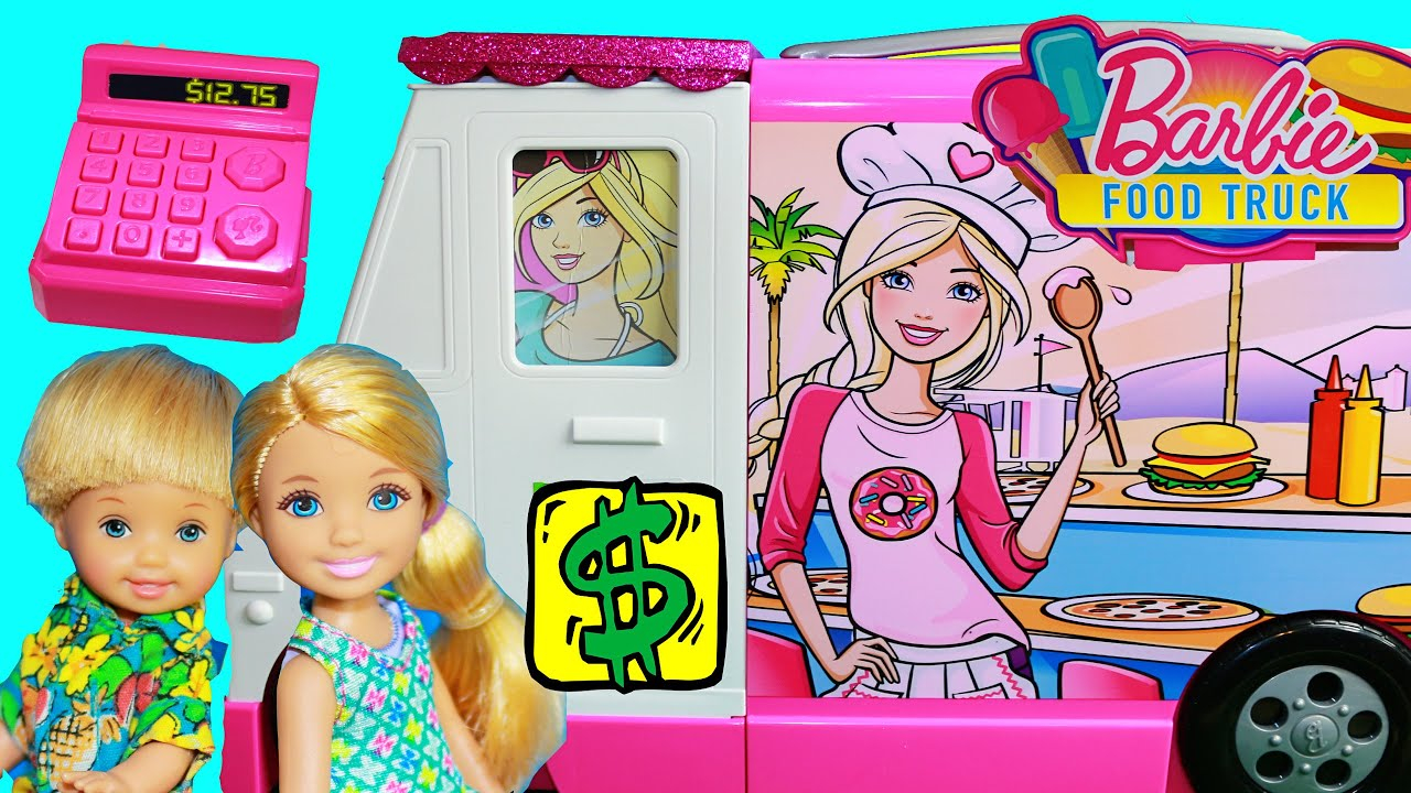 Barbie Toy Food : Barbie toy review food truck motorhome toby chelsea